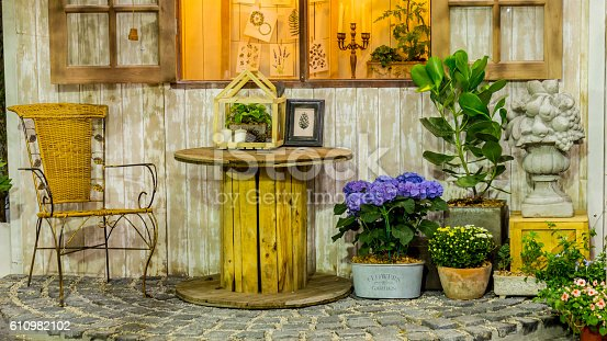 946294510 istock photo Relaxing area in cozy home. 610982102