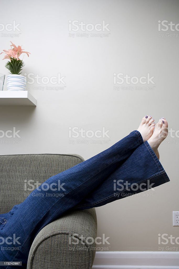 Relaxing at Home stock photo
