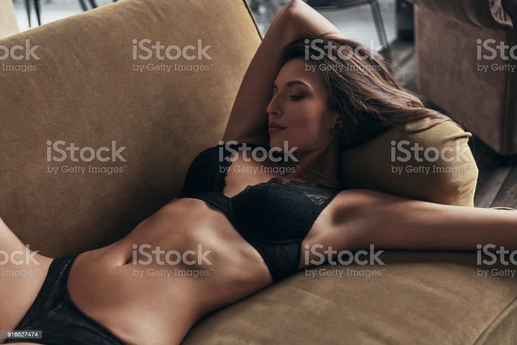 Relaxing at home. stock photo