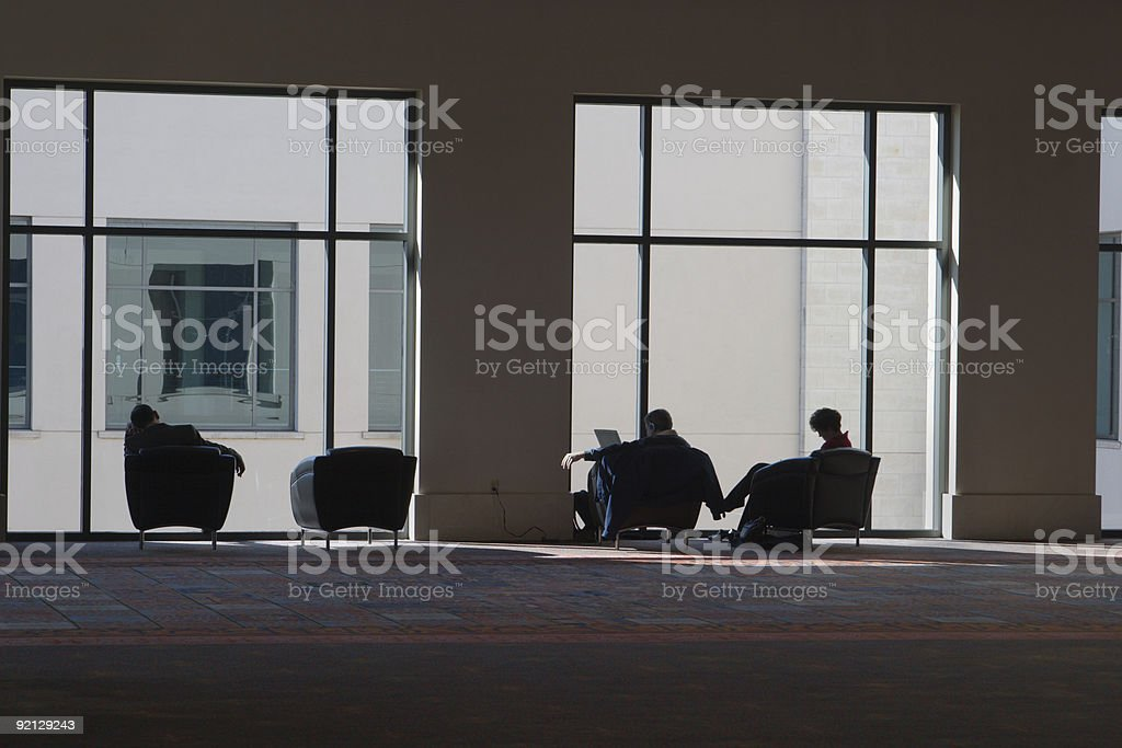 Relaxing At The Convention Center royalty-free stock photo