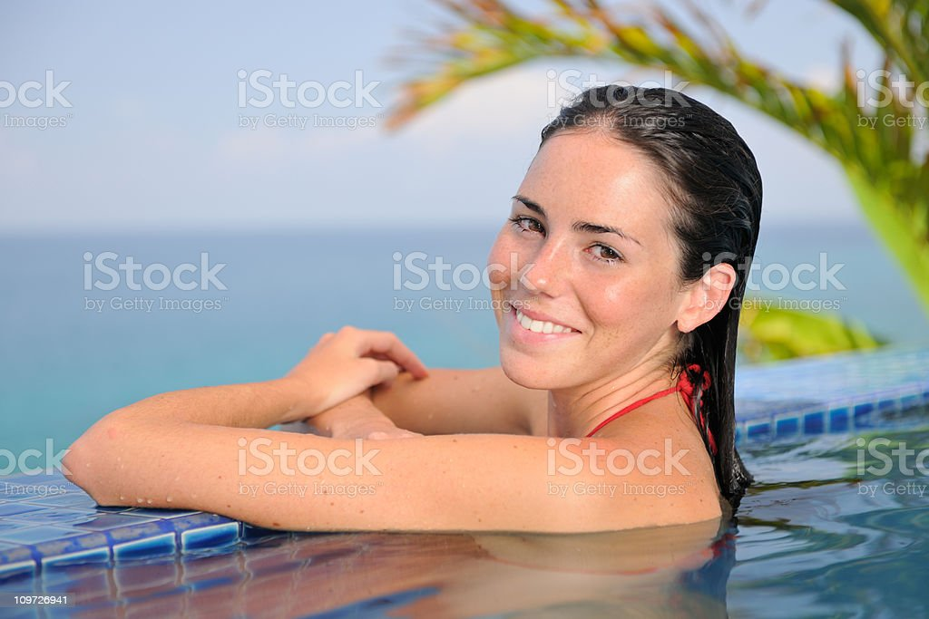 Relaxing at the private infinity Pool, President Suite (XXXL) royalty-free stock photo