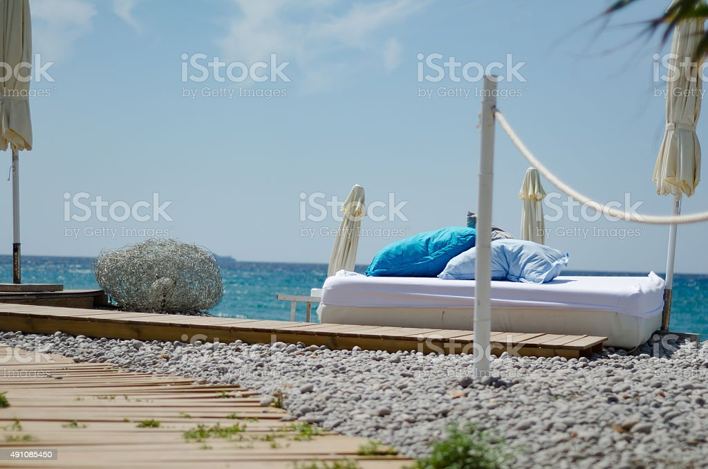 Relaxing at the sea stock photo