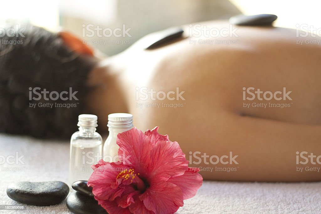 Relaxing at the spa royalty-free stock photo