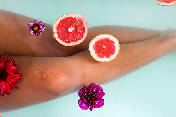 relaxing at the spa - drenched stock pictures, royalty-free photos & images