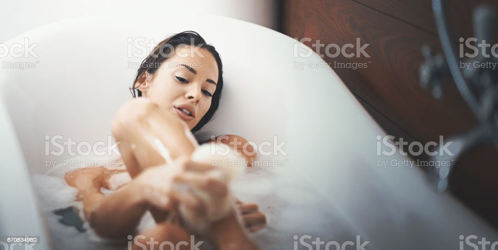 Relaxing bath. stock photo