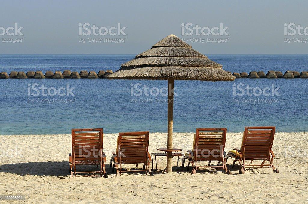 Relaxing beach view stock photo