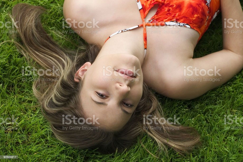 Relaxing Beauty royalty-free stock photo