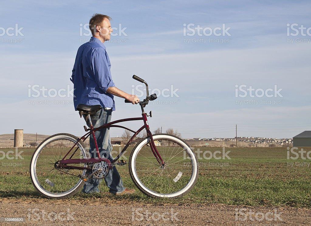 Relaxing Bike Ride stock photo