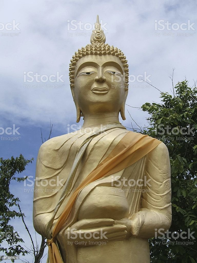 Relaxing Buddha royalty-free stock photo