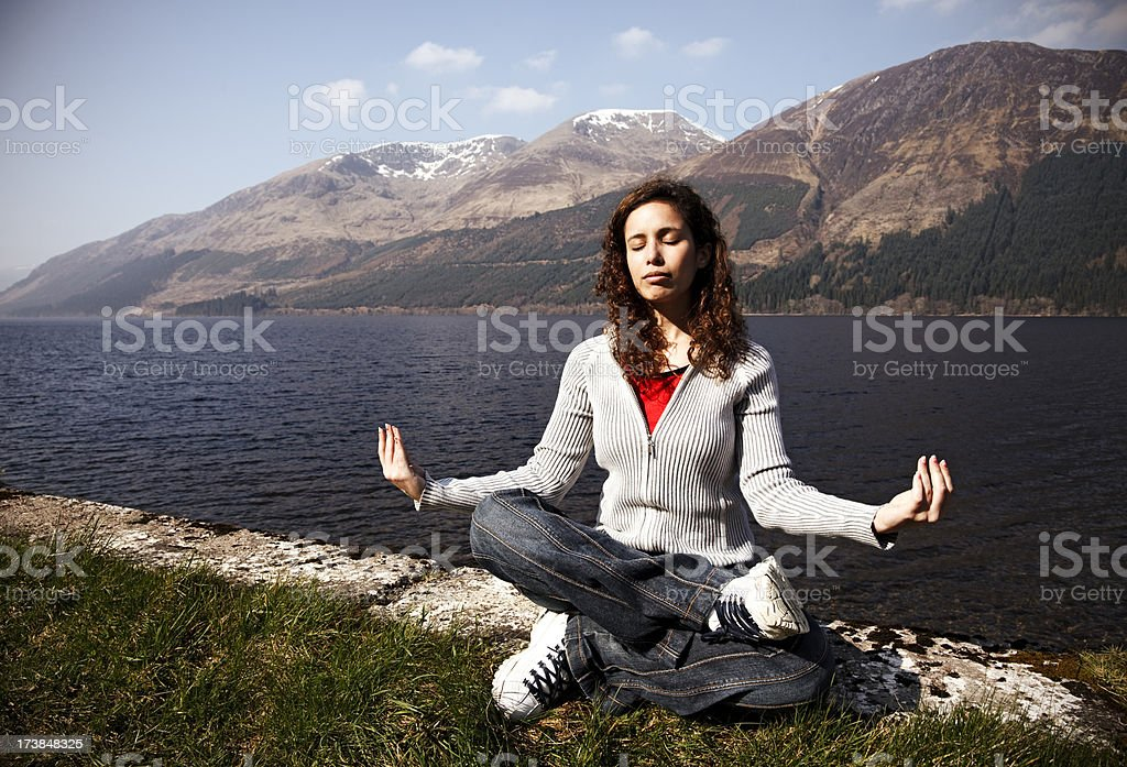 Relaxing by the Loch royalty-free stock photo