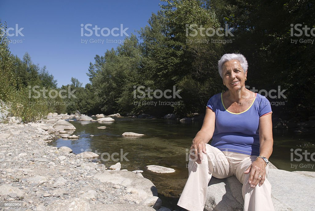 Relaxing by the river side royalty-free stock photo