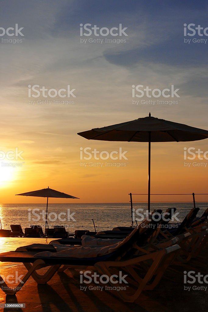 Relaxing Evening royalty-free stock photo