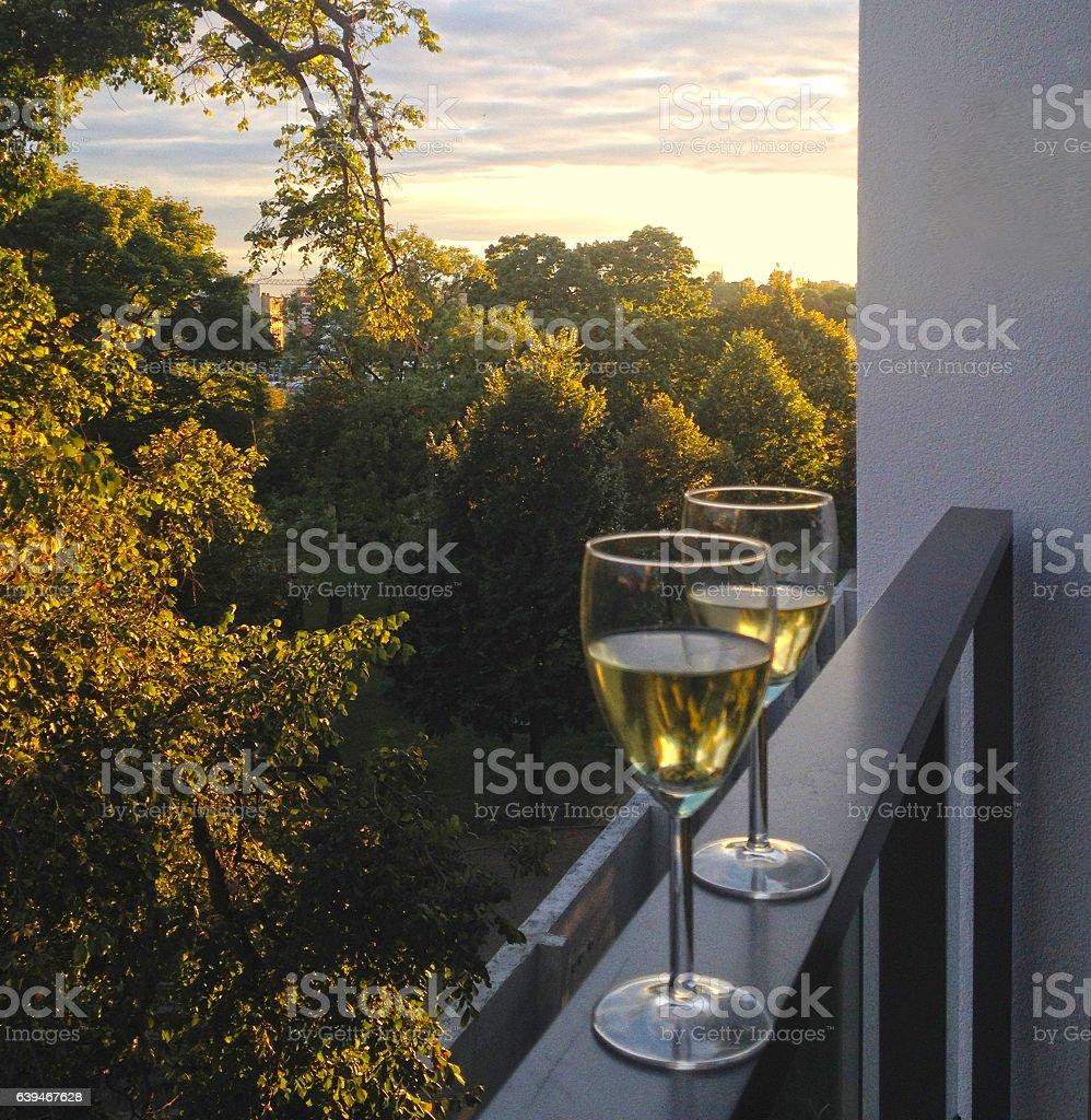 Relaxing evening stock photo