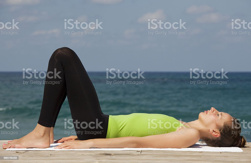 relaxing exercises royalty-free stock photo