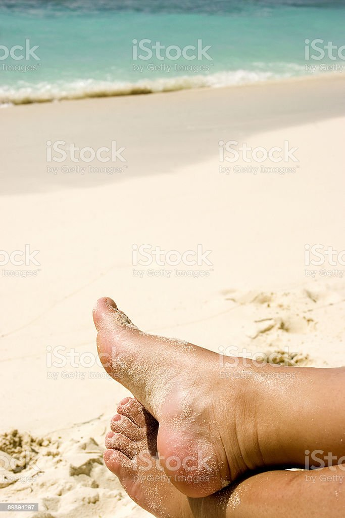 Relaxing feet royalty-free stock photo