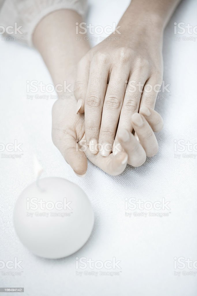 Relaxing hands royalty-free stock photo
