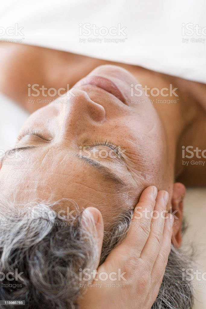 Relaxing Head Massage royalty-free stock photo