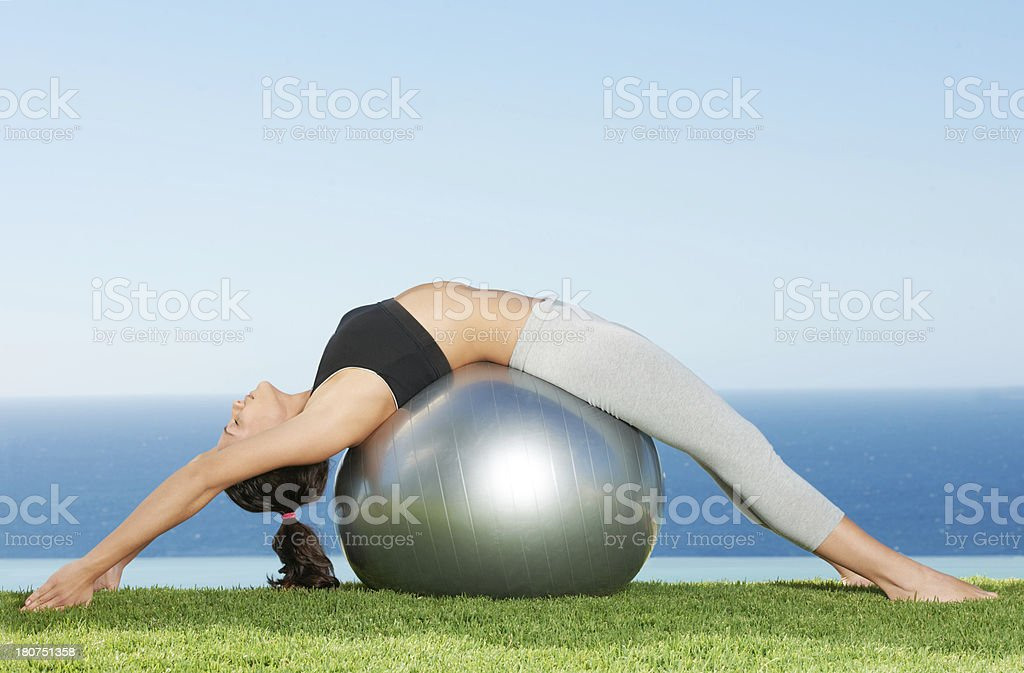 Relaxing her back - Royalty-free Active Lifestyle Stock Photo