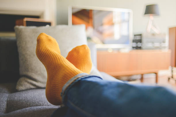 Relaxing Home Entertainment stock photo