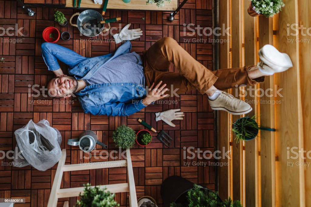 Relaxing in a my garden royalty-free stock photo