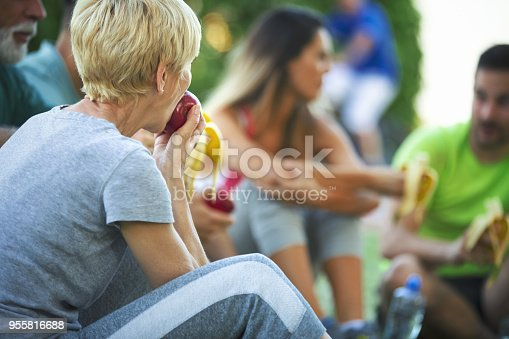 istock Relaxing in a park. 955816688
