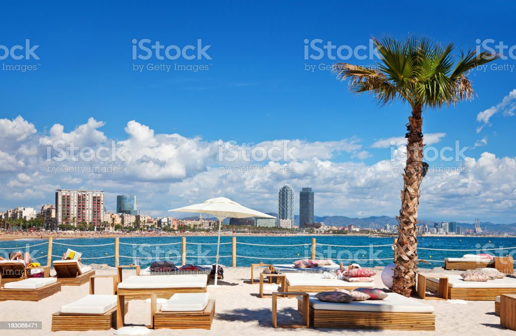 Relaxing in Barcelona stock photo