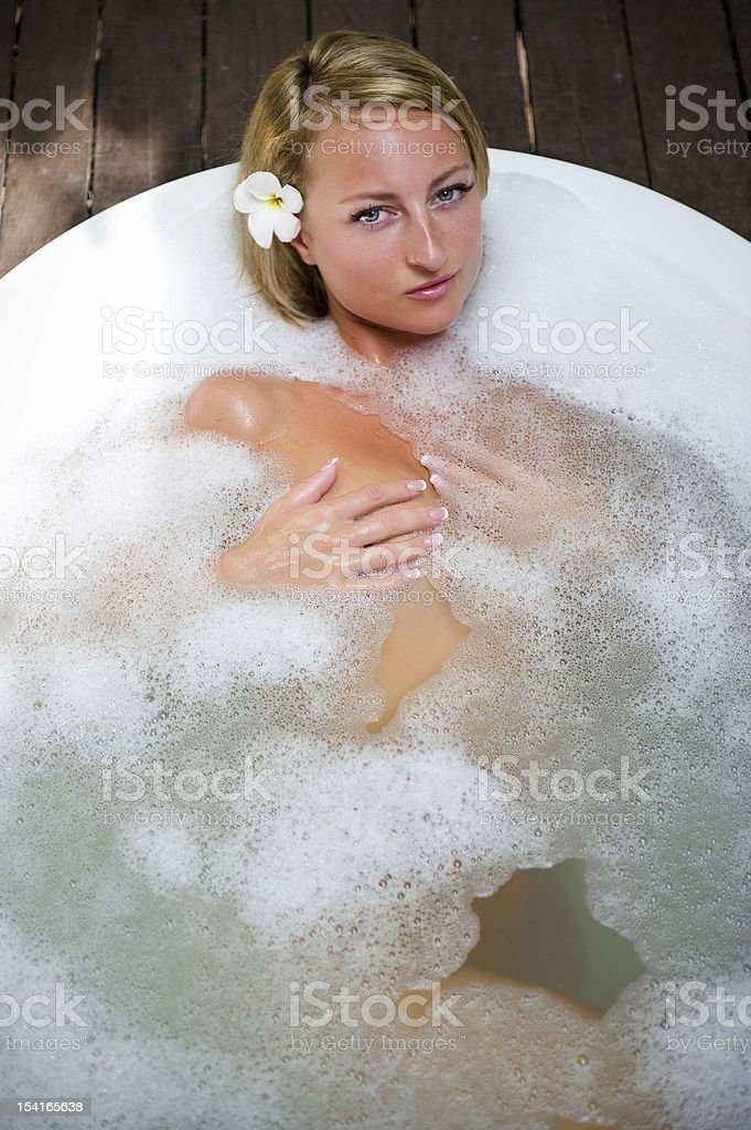 Relaxing In Bath royalty-free stock photo