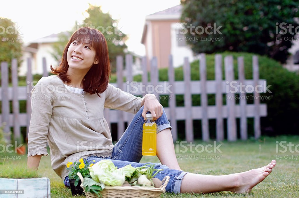 Relaxing in Garden royalty-free stock photo