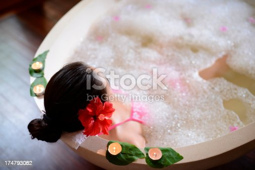 istock Relaxing In hot tub 174793082