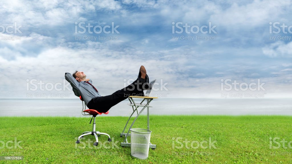 Relaxing in nature stock photo