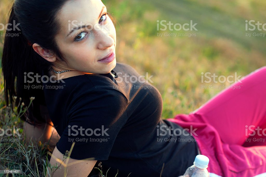 Relaxing in nature royalty-free stock photo