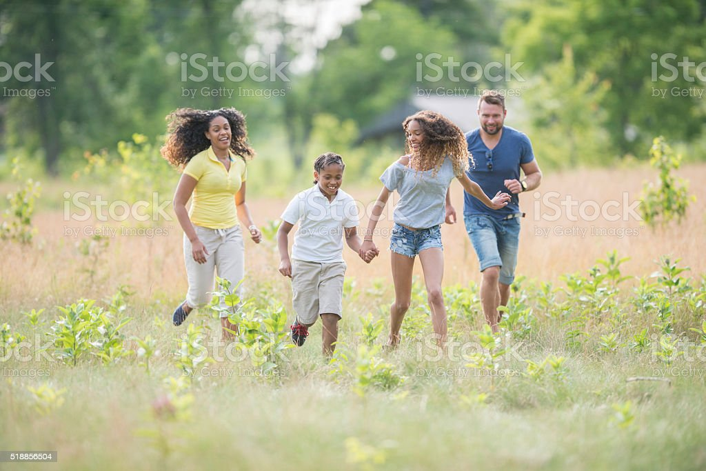 Relaxing in Nature Together royalty-free stock photo