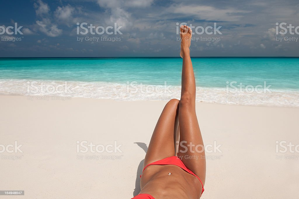 Relaxing in Paradise royalty-free stock photo