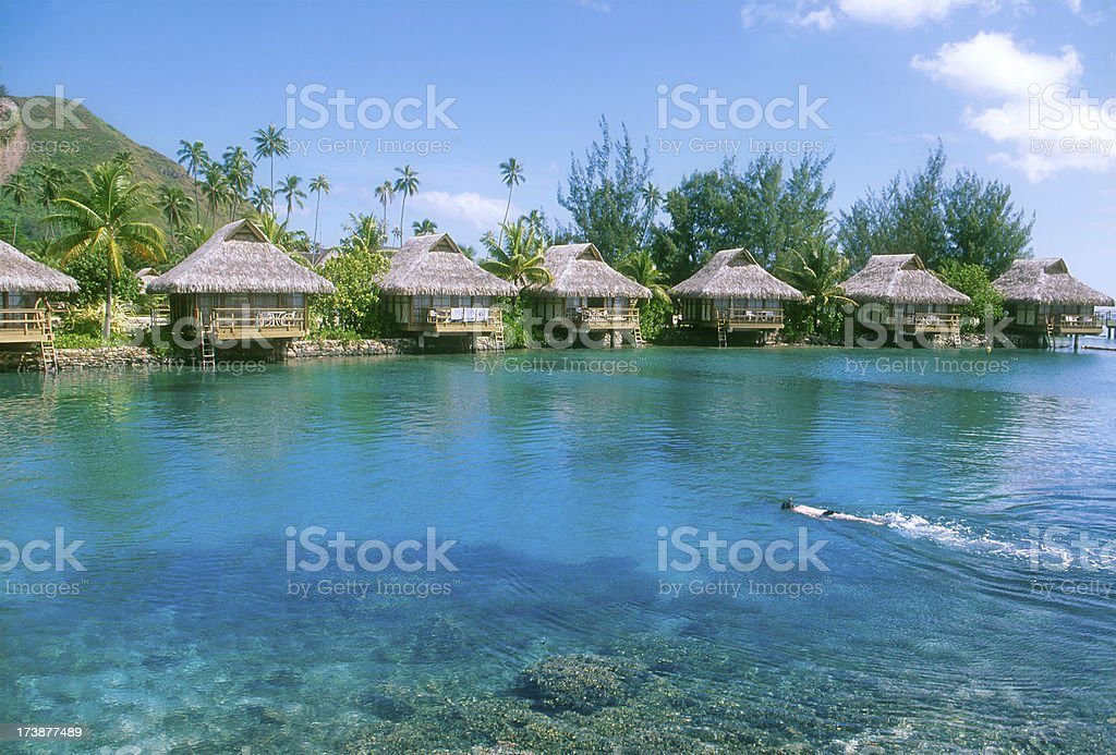 Relaxing in Polynesia royalty-free stock photo