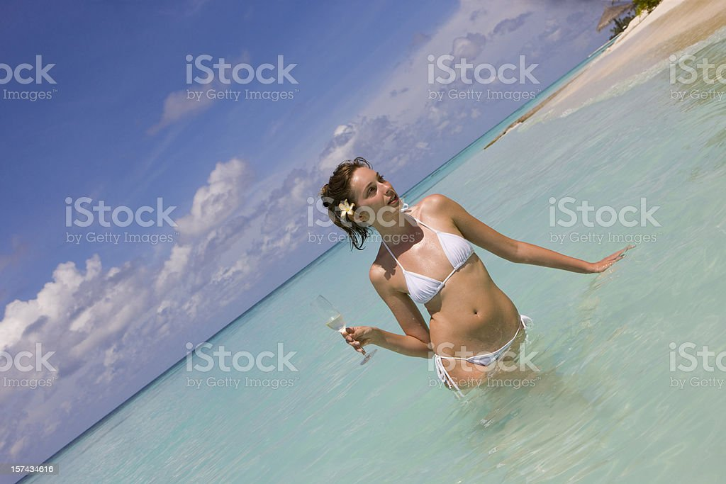 Relaxing in sea royalty-free stock photo