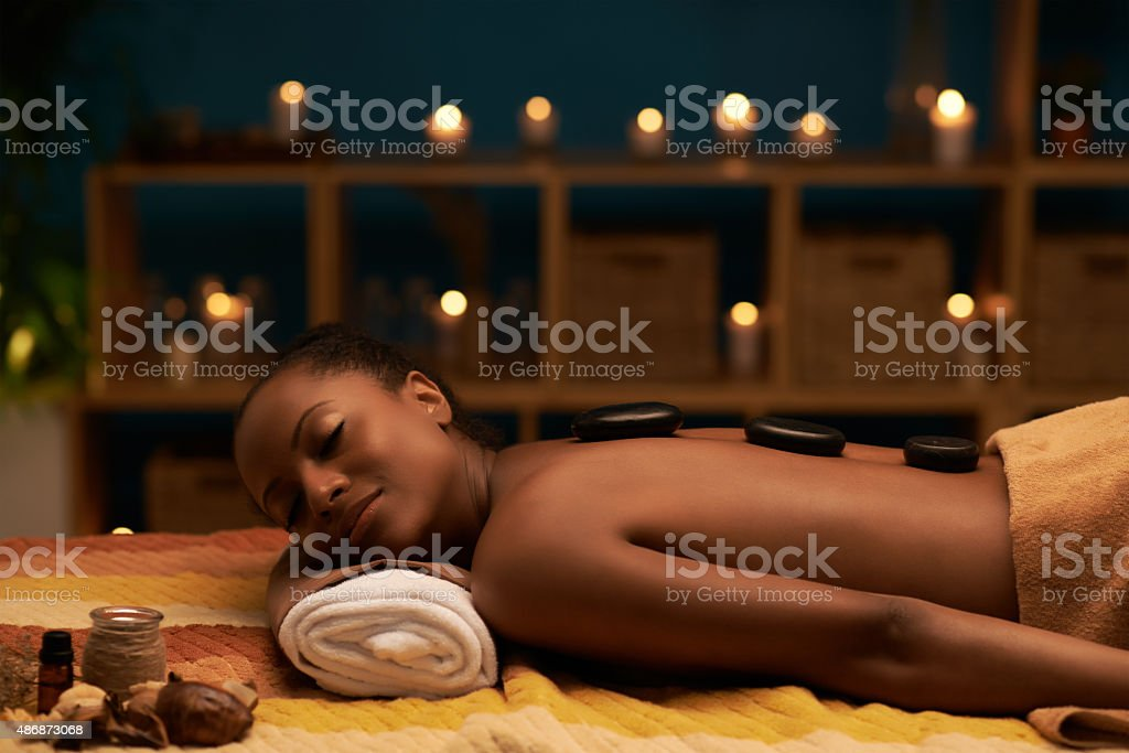 Relaxing in spa stock photo