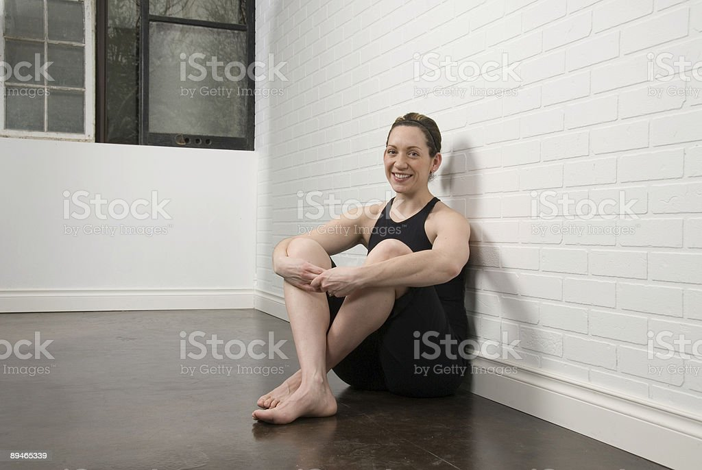 Relaxing in studio royalty-free stock photo