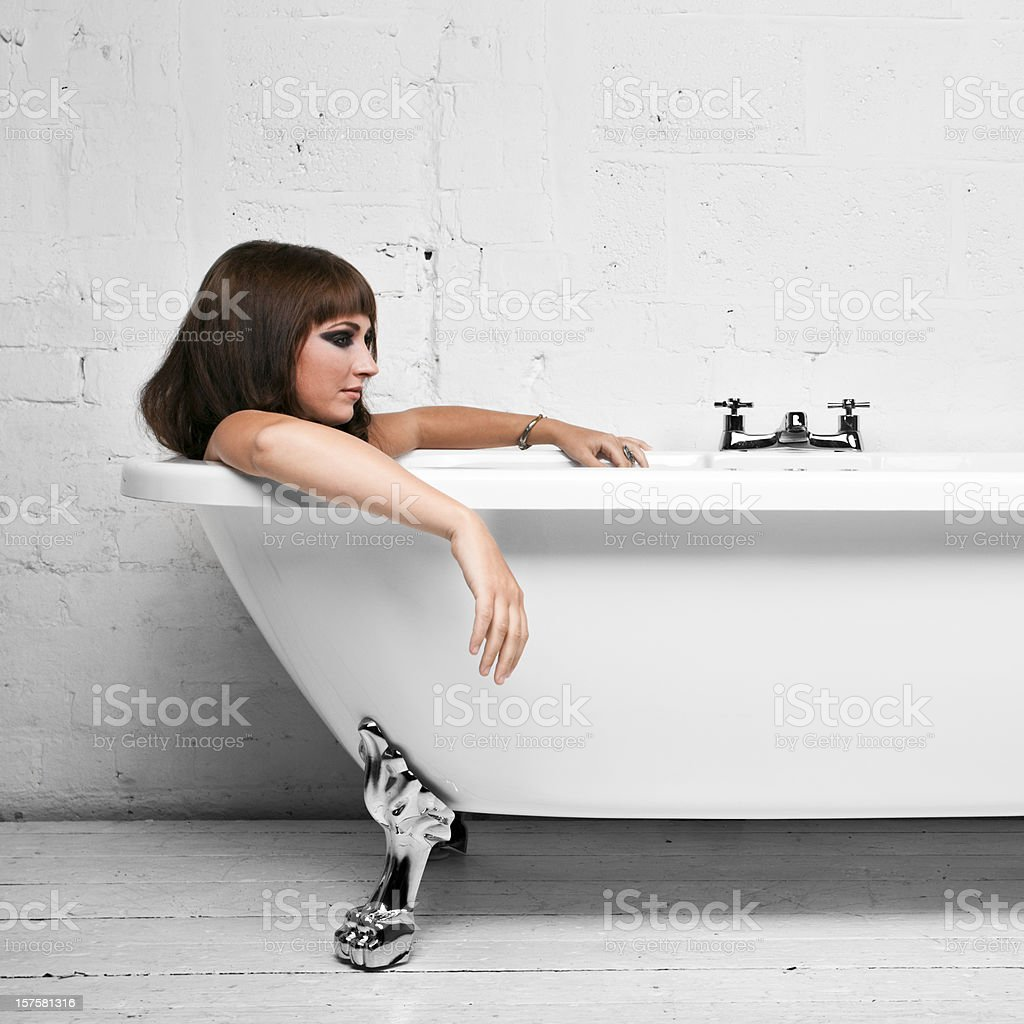 Relaxing in the bath royalty-free stock photo