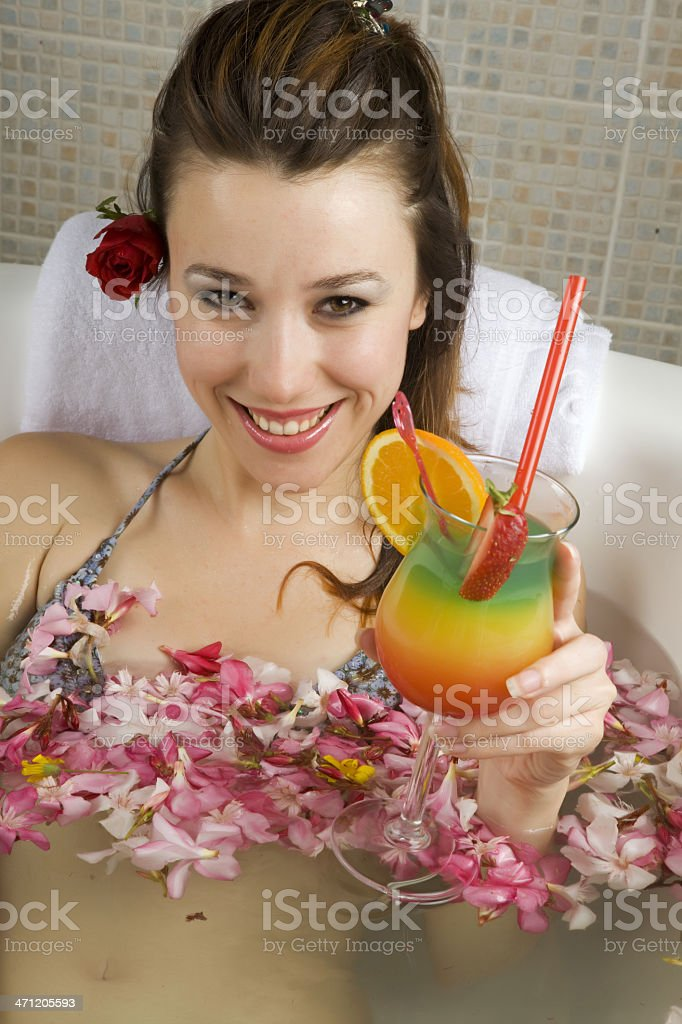 Relaxing in the bathtube royalty-free stock photo