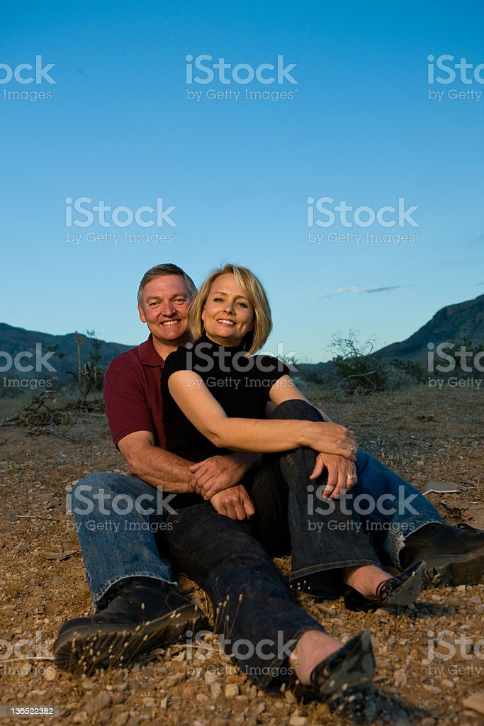 Relaxing in the desert royalty-free stock photo