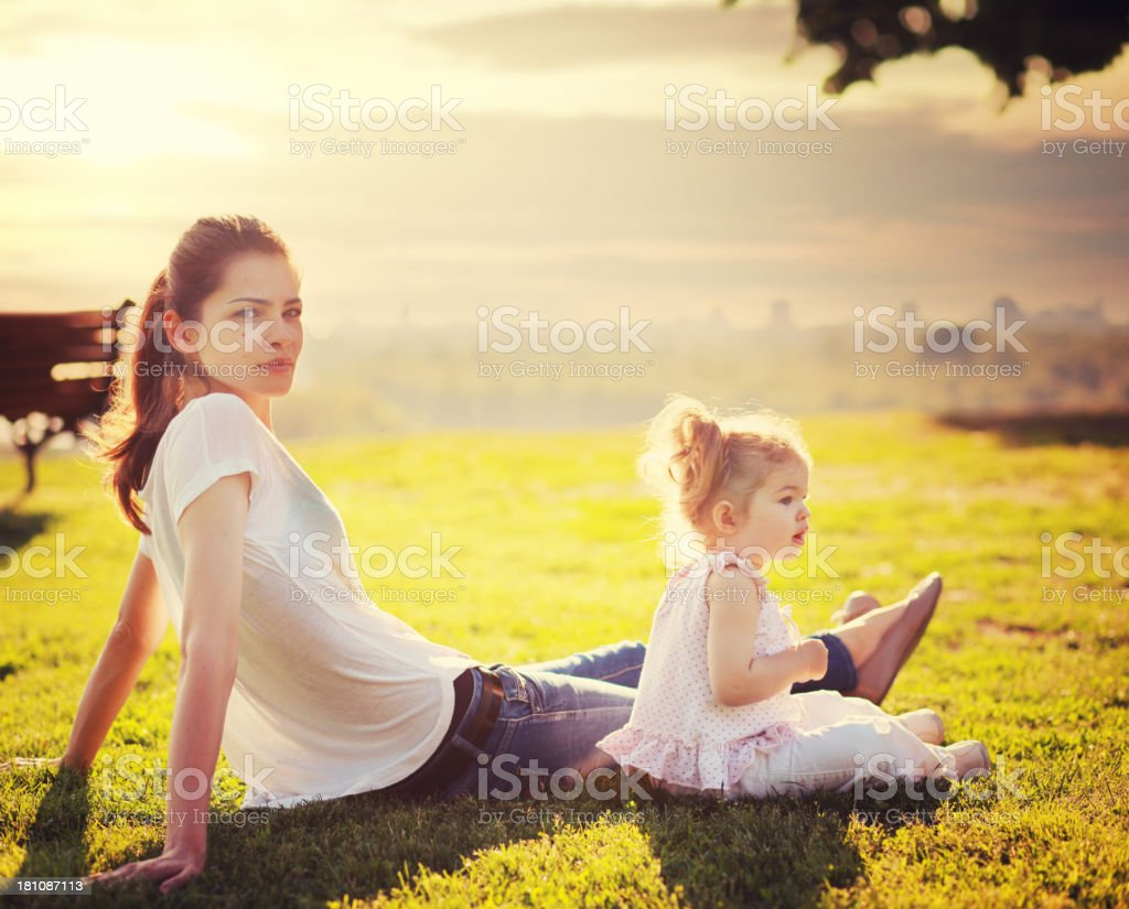Relaxing in the nature royalty-free stock photo