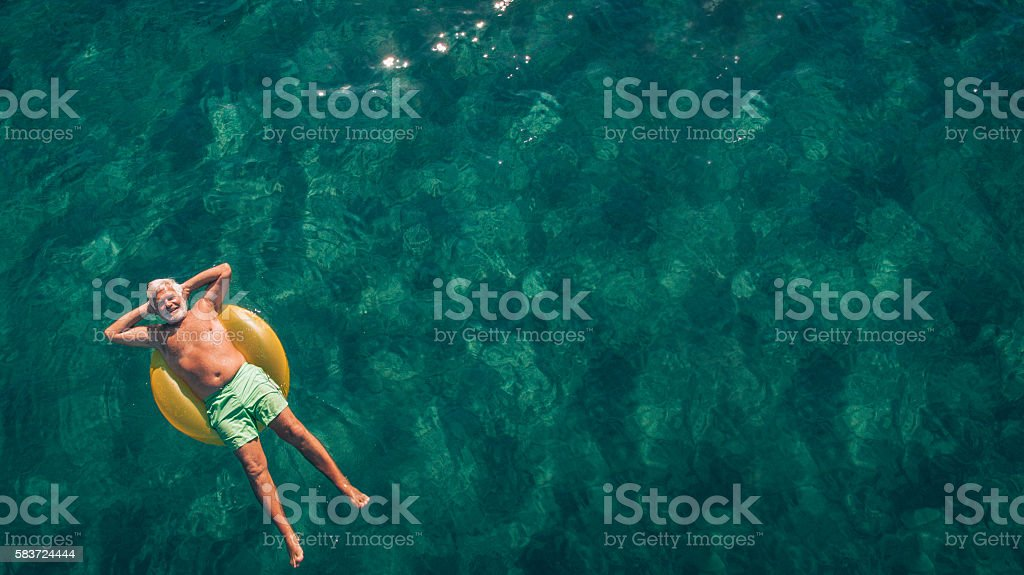 Relaxing in the sea stock photo