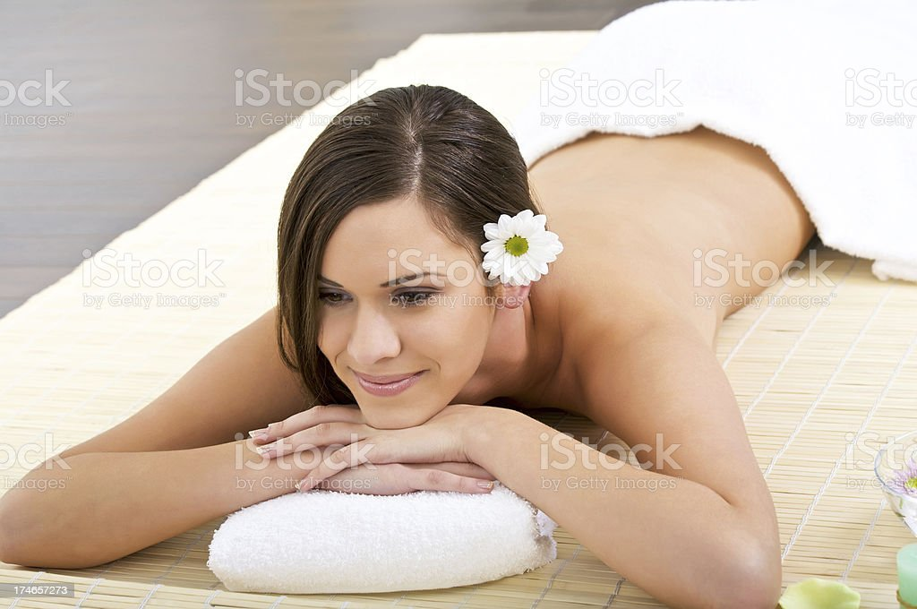 Relaxing in the spa stock photo