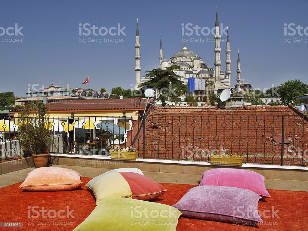 Relaxing Istanbul royalty-free stock photo