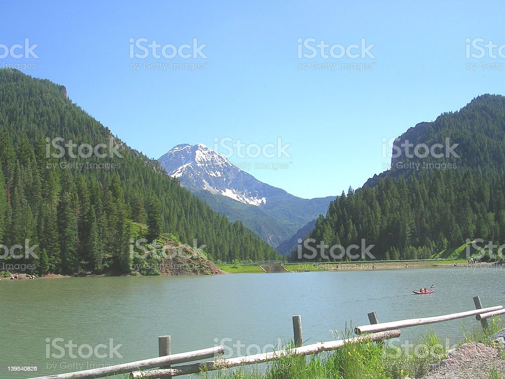relaxing lake royalty-free stock photo