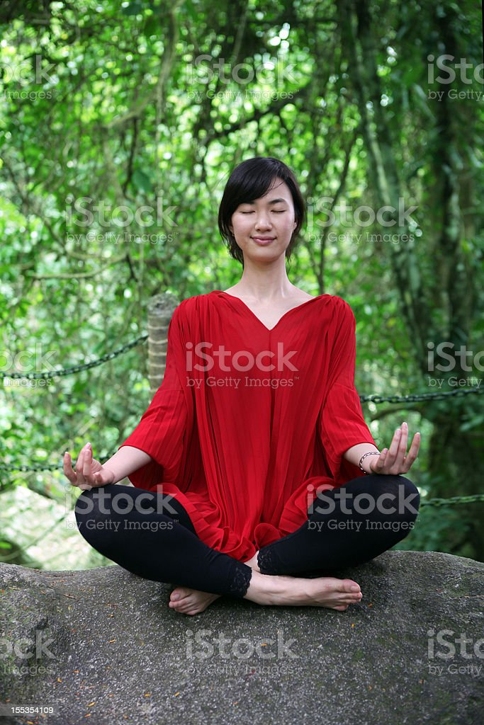 Relaxing Lifestyle and Yoga Fitness - XXLarge royalty-free stock photo