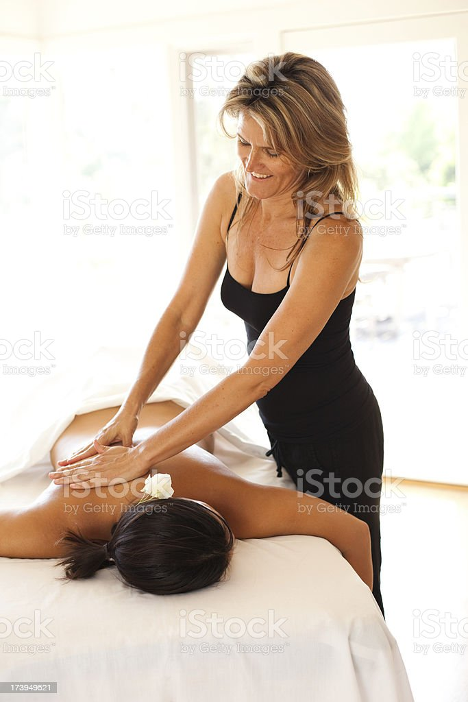 Relaxing Massage royalty-free stock photo