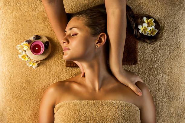Relaxing massage. stock photo