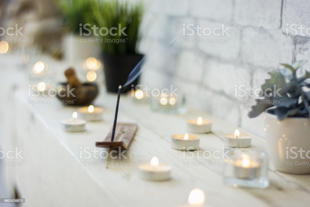 Scène de méditation relaxante photo libre de droits