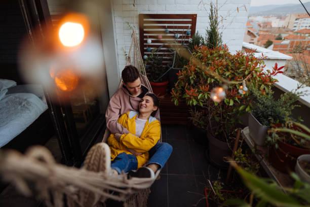 Entspannende Momente in einer Hängematte – Foto